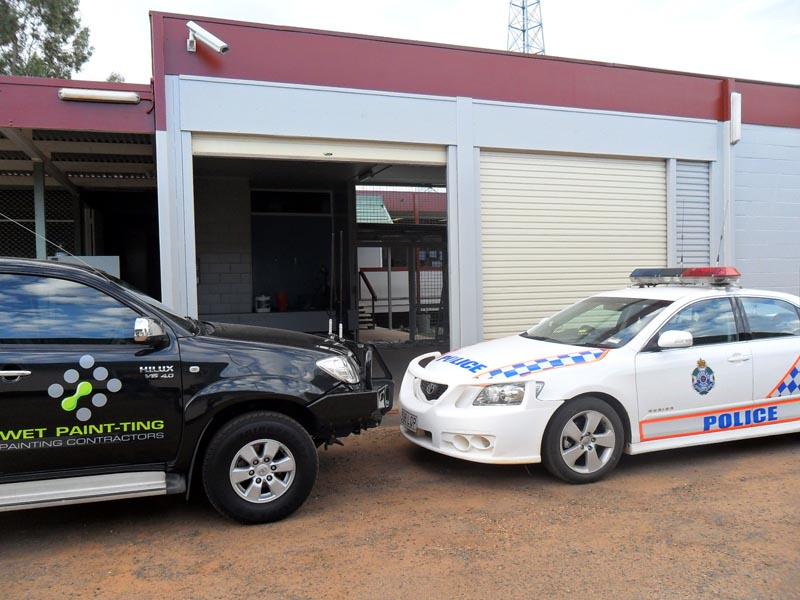 Painting Cunnamulla Police Station and Watch House